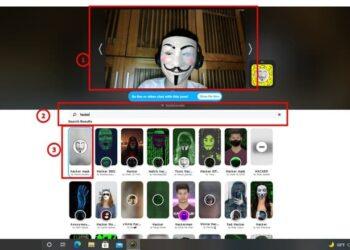 sử dụng filter để học online bằng snap camera