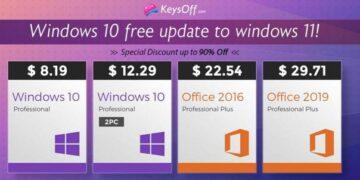 keysoff windows 11