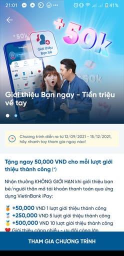Cách nhận 100k miễn phí từ Vietinbank 78