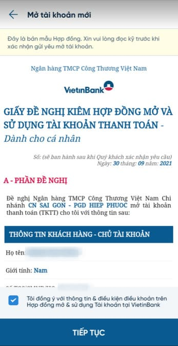 Cách nhận 100k miễn phí từ Vietinbank 72