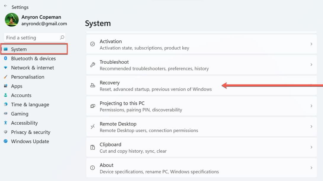 Cách hạ cấp Windows 11 xuống Windows 10 7